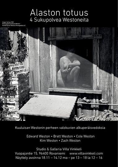 Valokuvanäyttely Alaston Totuus - Edward Weston, Brett Weston, Cole Weston, Kim Weston, Zach Weston
