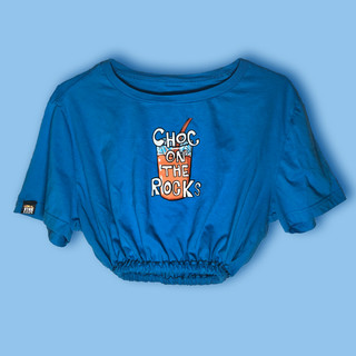 Choc on the Rocks cropped & cinched tee