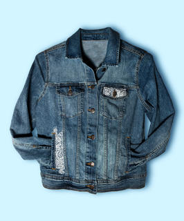 REMIX Hand painted jean jacket