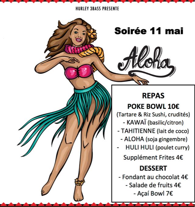Soirée 11 Mai ALOHA Tropical Café / Danse tahitienne Tau' Hoani - Troupe de danse Polynésienne / Restauration / Concert Son of ze Beach / Projection film de surf Momentum II