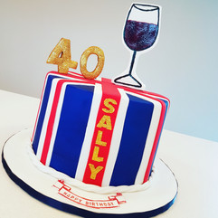 Patriotic Wine Birthday Cake