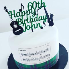 Musical notes Birthday Cake
