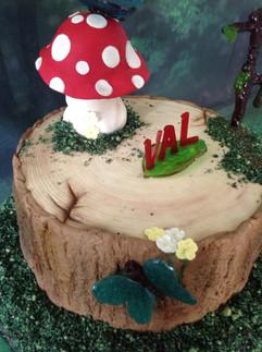 Woodland Scene Cake