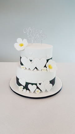 Hearts & Tartan Wedding Cake