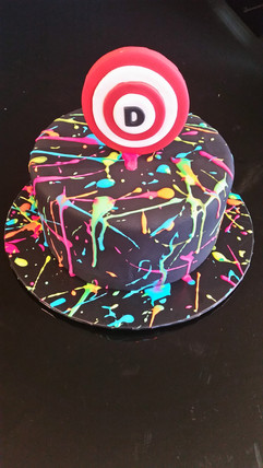 Paint Ball Birthday Cake