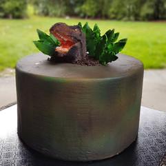 Dino Roar Birthday Cake
