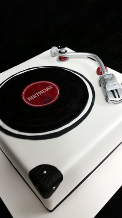 Record Player Birthday Cake