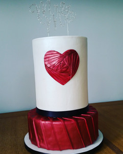Wedding Hearts Cake