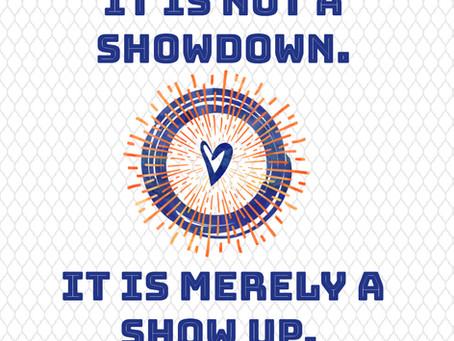 It's not a showdown between men and women; It's merely a show up.