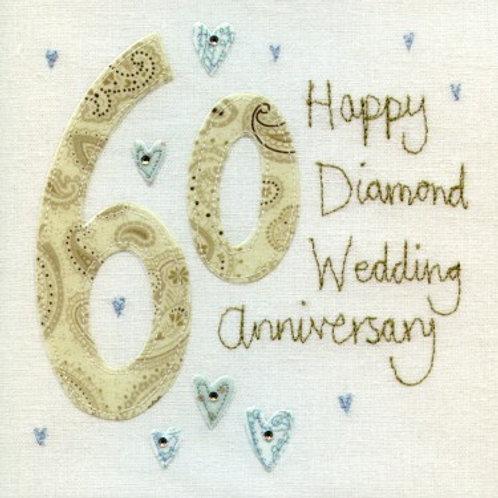 60th Diamond Wedding Anniversary Card