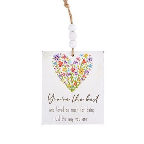 Wooden Hanging Decoration - You're The Best