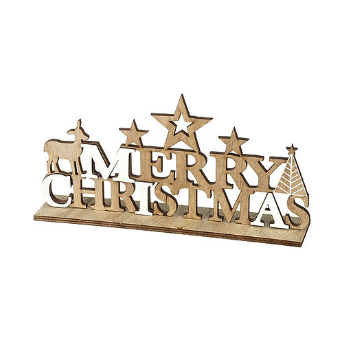 Wooden 'Merry Christmas' Sign