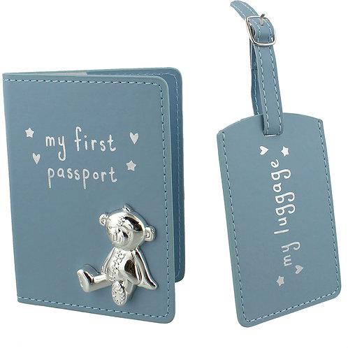 My First Passport & Luggage Set - Blue
