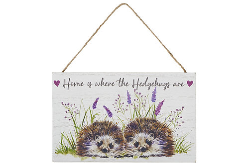 Home Is Where The Hedgehugs Are - Plaque