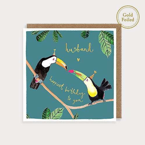 Husband Birthday Card - Toucans