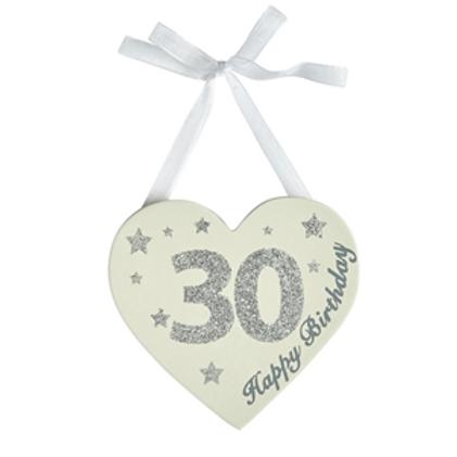 30th Birthday Glitter Heart