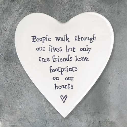 East Of India - True Friends Leave Footprints On Our Hearts Coaster