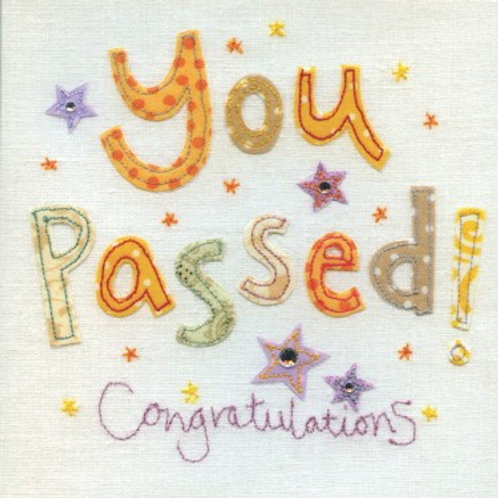 You've Passed Congratulations Card