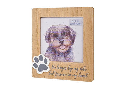 No Longer By My Side - Paw Print Photo Frame