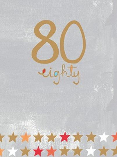 80th Birthday Card - Male