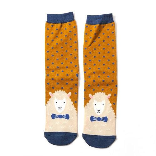 Mr Heron Men's Bamboo Socks -Sheep Mustard