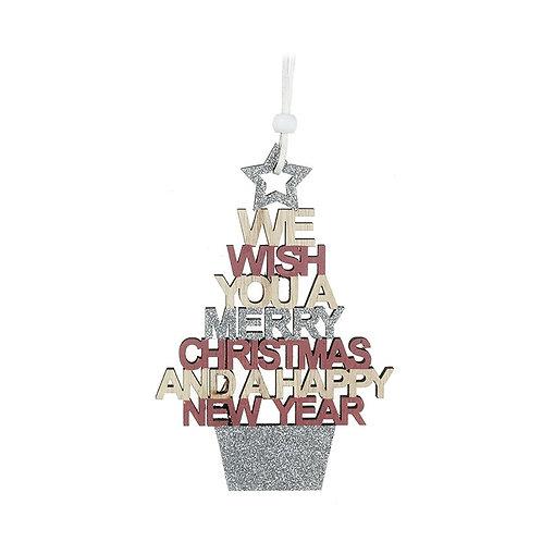 Glitter Merry Christmas Hanger