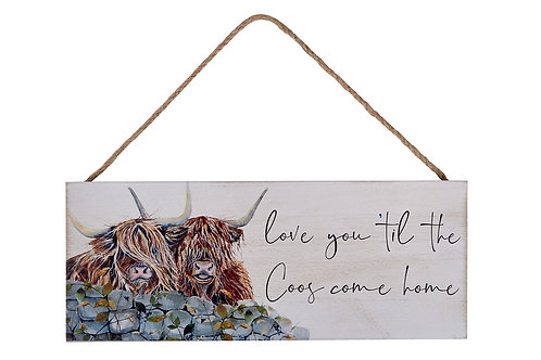 Highland Cow 'Love You Till the Coos' Plaque