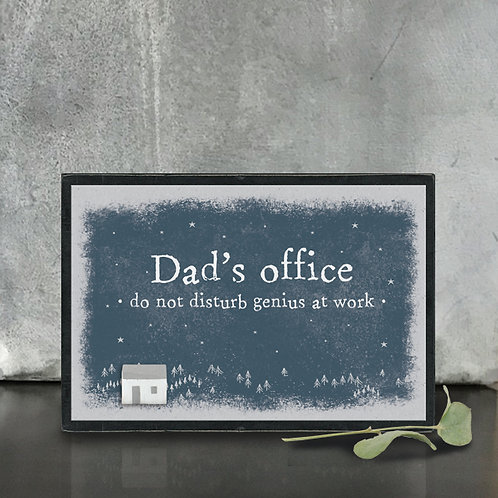 East Of India - 'Dad's Office' Wooden Block