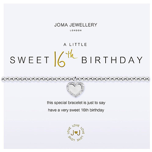 Joma Jewellery - 'A Little' Sweet 16th Birthday Bracelet
