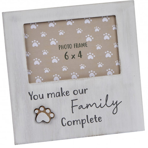 You Make Our Family Complete - Dog Paw Print Frame