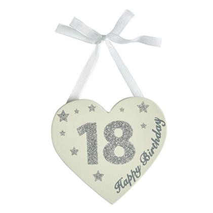 18th Birthday Glitter Heart