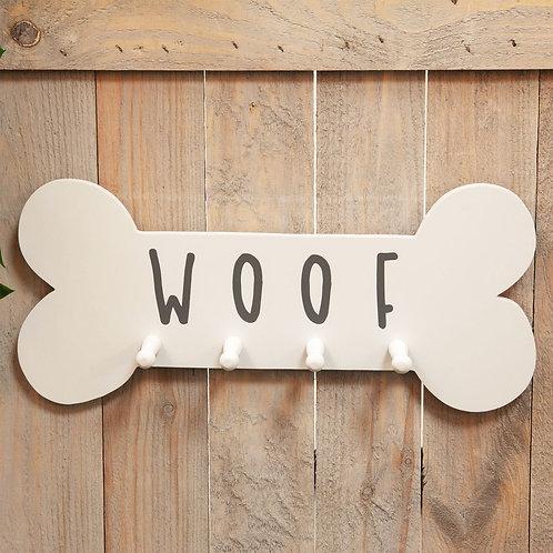 'Woof' Hanging Dog Lead Hooks