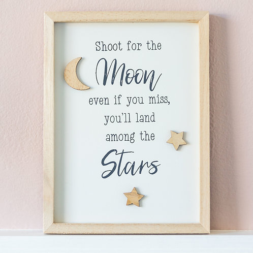 'Shoot For The Moon' Framed Plaque
