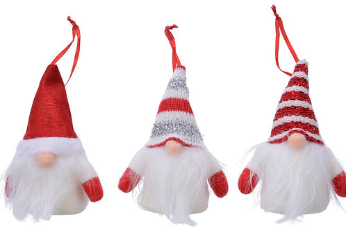 Red Glitter Fabric Hanging Gonk (Assorted)