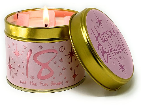 Lily Flame - Happy 18th Birthday Candle
