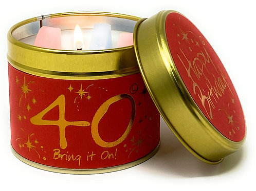 Lily Flame - Happy 40th Birthday Candle