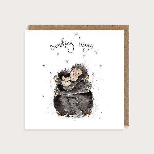 Sending Hugs - Card