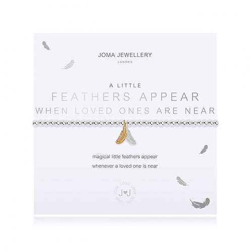 Joma Jewellery - 'A Little' Feathers Appear Bracelet
