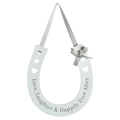 Love, Laughter & Happily Ever After - Wedding Horseshoe