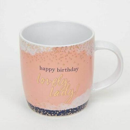 Happy Birthday Lovely Lady - Mug