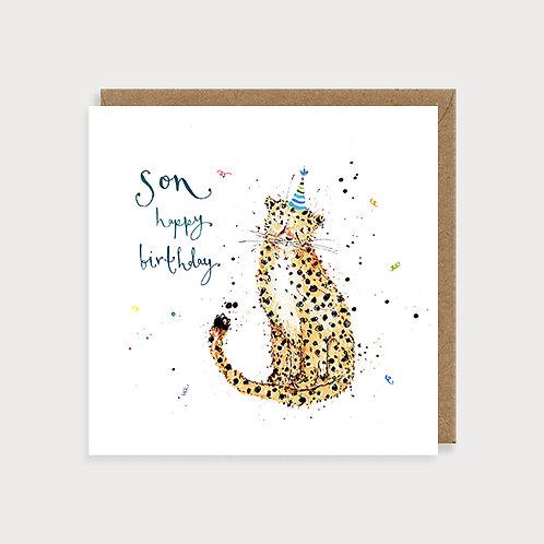 Son Birthday Card - Cheetah