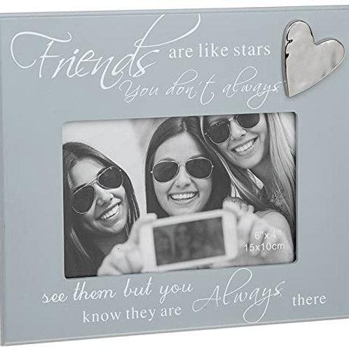 Friends Are Like Stars - Grey Script Photo Frame