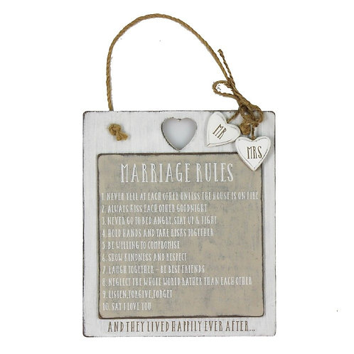 Marriage Rules - Plaque