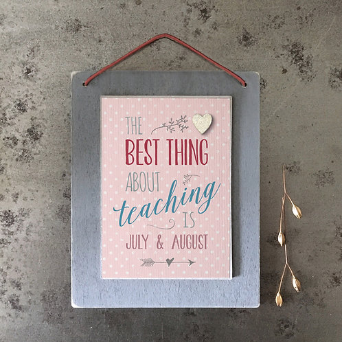 East Of India - The Best Thing About Teaching Plaque