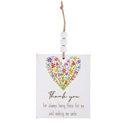 Wooden Hanging Decoration - Thank You