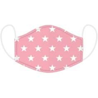 Kids Pink Star Face Covering - Washable