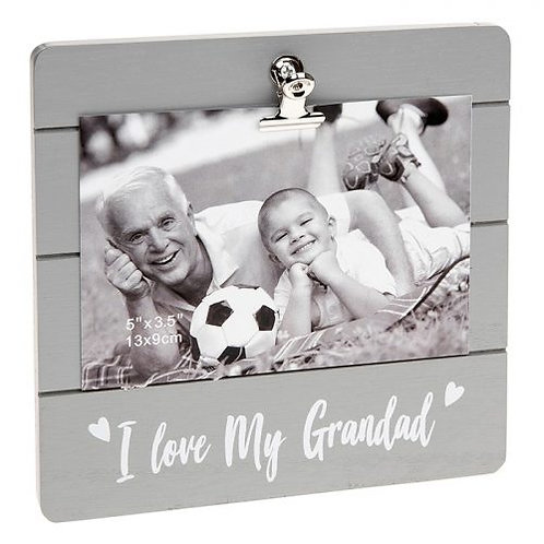 I Love My Grandad - Grey Clip Photo Frame
