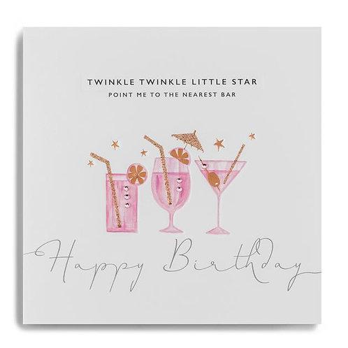 Cocktails - Birthday Card