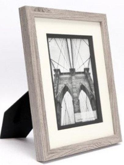 "Grey wash Wooden Frame -5 x 7"""