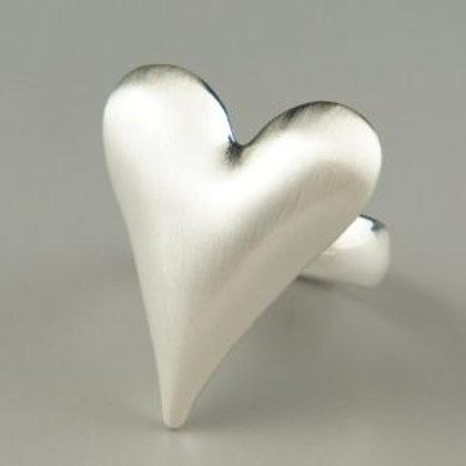 Capulet - Matt Silver Heart Ring